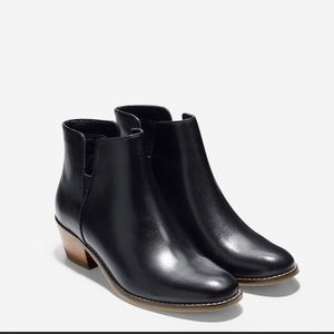 Cole Haan Abbot black leather booties NEW